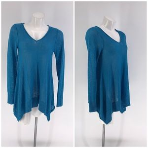 RONDINA TOP SWEATER Tunic V-Neck Long Sleeve XS